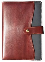 Eccolo 6 x 8 Inches Style Journal in Faux Leather (Grey and Brown Pocket) - $14.84