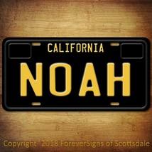 Noah California Name License Plate Aluminum Vanity Tag - $16.82