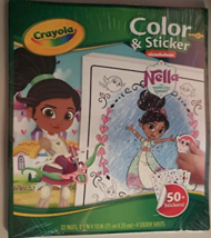 CRAYOLA NELLA THE PRINCESS KNIGHT COLOR & STICKER BOOK  - $8.86