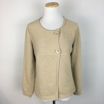 Talbots Women's Beige Brown Thick Babydoll Cardigan Sweater Size Small  - $19.79