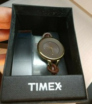 Timex Vintage Wristwatch Genuine Brown Leather Strap-NEW- Free Shipping ... - $53.55