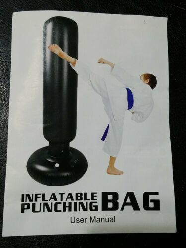 Qiqu Kids Punching Bag, Inflatable Kids Punching Bag With Stand Free Standing Bo