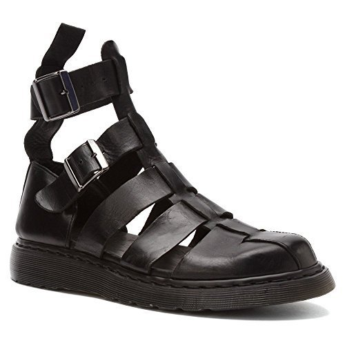 Dr. Martens Women's Geraldo Strap Fashion Sandals, Black Leather, 4 M UK, 6 M US