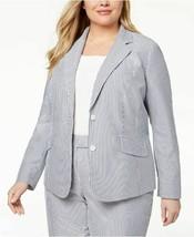 Anne Klein Blazer Double Button Striped Cotton Stripes Women 22W Plus NE... - $39.99