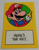"Vintage Super Mario Brothers Greeting Card Nintendo 1989 Mario ""Here's t... - $9.99"