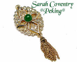 "Vintage Sarah Coventry Brooch Tassel Style ""PEKING"" Early 1970s - $7.95"