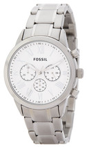 Fossil Men's Small Flyn Silver Tone Stainless Steel Chronograph Bracelet... - $100.00