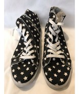 Zip Up And Lace Shoes With Back with white stars size 9 - $23.75