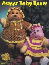 Sweet Baby Bears, Leisure Time Crochet Doll Clothes Pattern Booklet MM1091  - $4.95