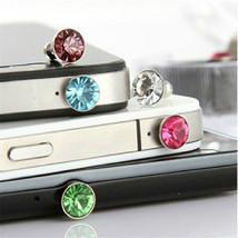 Luxury 3.5mm diamond Dust Plug Earphone Plug Iphoe 4 5 6 HTC Samsug Galaxy S4 S5 - $2.99
