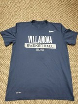 Villanova Wildcats Nike Basketball Elite Blue T-Shirt Medium Excellent C... - $14.84