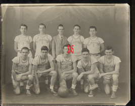 CIRCA 1940'S-50'S PHOTO- ST JOSEPH BASKETBALL TEAM-WEST NY ? - $24.00