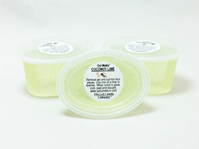 Coconut Lime scented Gel Melts for tart/oil warmers - 3 pack - $5.95
