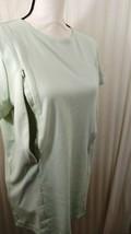 Breastfeeding Nursing Lt Green Tunic Sz XL 100% Cotton Stretch Zip to Fe... - $10.44