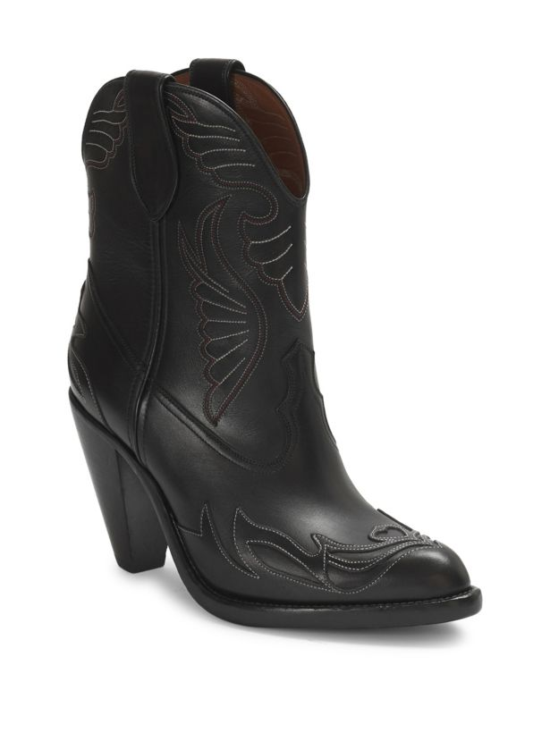 Givenchy Stitched Leather Western Booties Size 37 MSRP: $1,395