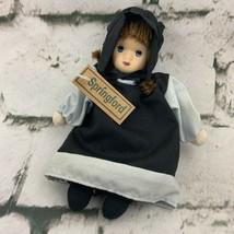 Springford 1999 Doll Amish Girl Soft Black Dress - $15.84