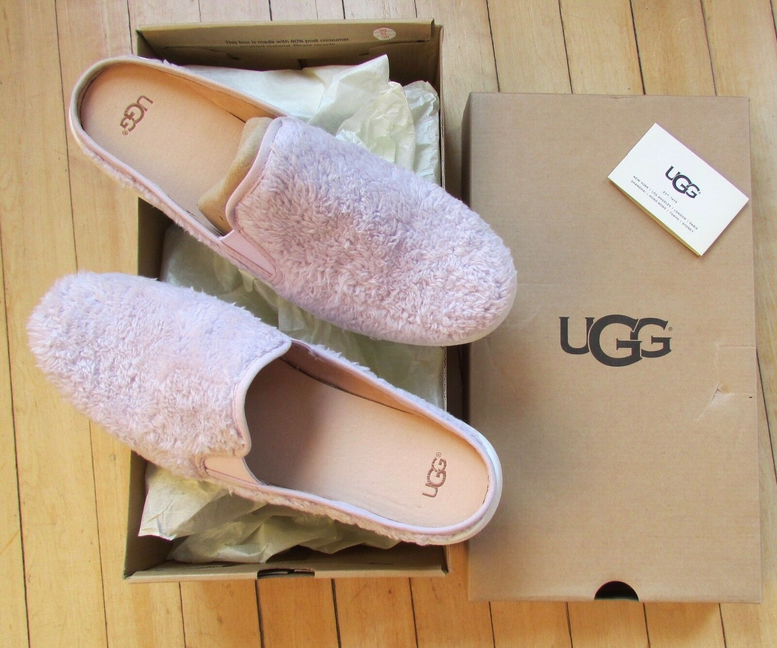 UGG Slippers Luci Slip On Sneakers Lavender fog Size 11 NEW