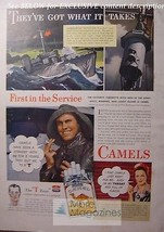 Rare 1943 Esquire Advertisement Ad Camels Camel Cigarettes! Wwii Era - $14.00