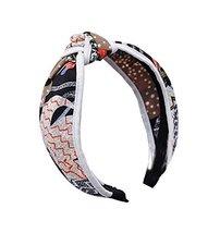 Fashionable White Cross Hair Hoop Fabric Hoop Retro Headband - $11.16