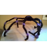 "Halloween Large 27""+ Black & Purple Furry Spider Poseable & Bendable Legs - $14.99"