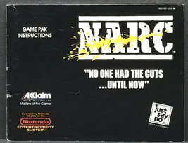 Narc Nintendo NES Instruction Manual Only - $9.00