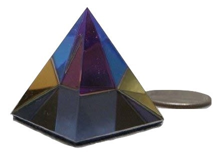Scholer 30mm Bermuda Blue Crystal Pyramid