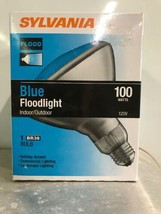 Sylvania Brand 100 Watt Blue BR38 Outdoor Flood Bulbs - $9.89