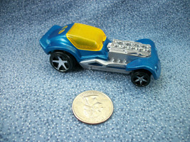 McDonald's Hot Wheels Mattel 2008 Blue Race Car Plastic - $1.19