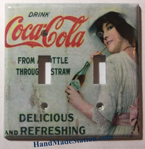 Coke Drink Coca-Cola Old Poster Light Switch Outlet Wall Cover Plate Home Decor image 4