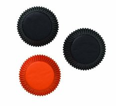 Wilton Standard Baking Cups, Assorted Black and Orange, 75 Count - $4.32