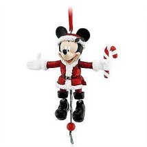 disney parks christmas santa mickey mouse marionette ornament new with tag - $24.14