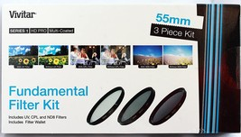 Vivitar 3-Piece Multi-Coated HD Filter Set (55mm UV/CPL/ND8) - $9.95
