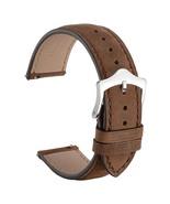 WOCCI Rustic Watch Band Suede Finish 18mm 20mm 22mm Dark Brown Strap Wri... - $29.89