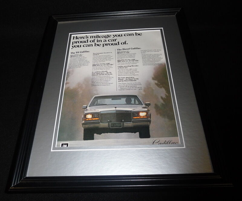 Primary image for 1981 Cadillac V6 11x14 Framed ORIGINAL Vintage Advertisement