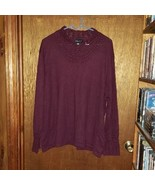 Dialogue Crocheted Neck and Cuffs Sweater - Size 3X - Wine - $23.74