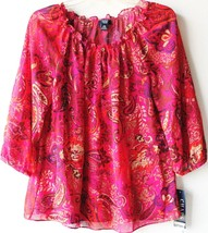 Chaps by Ralph Lauren Misses Chiffon Paisley Georgette Blouse Cami Top XL 16 - $39.99