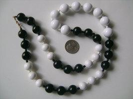 MONET Jewelry Black White Color Plastic Beads Ball Beaded Chunky Graduat - $27.11