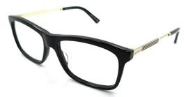 Gucci Eyeglasses Frames GG0302O 001 54-16-150 Black - Gold Made in Japan - $215.60