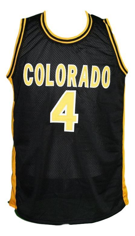 Chauncey billups  4 custom college colorado basketball jersey black   1