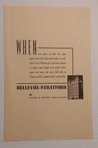 1940 Bellevue-Stratford Hotel Advertisement Philadelphia, PA (b) - $18.00
