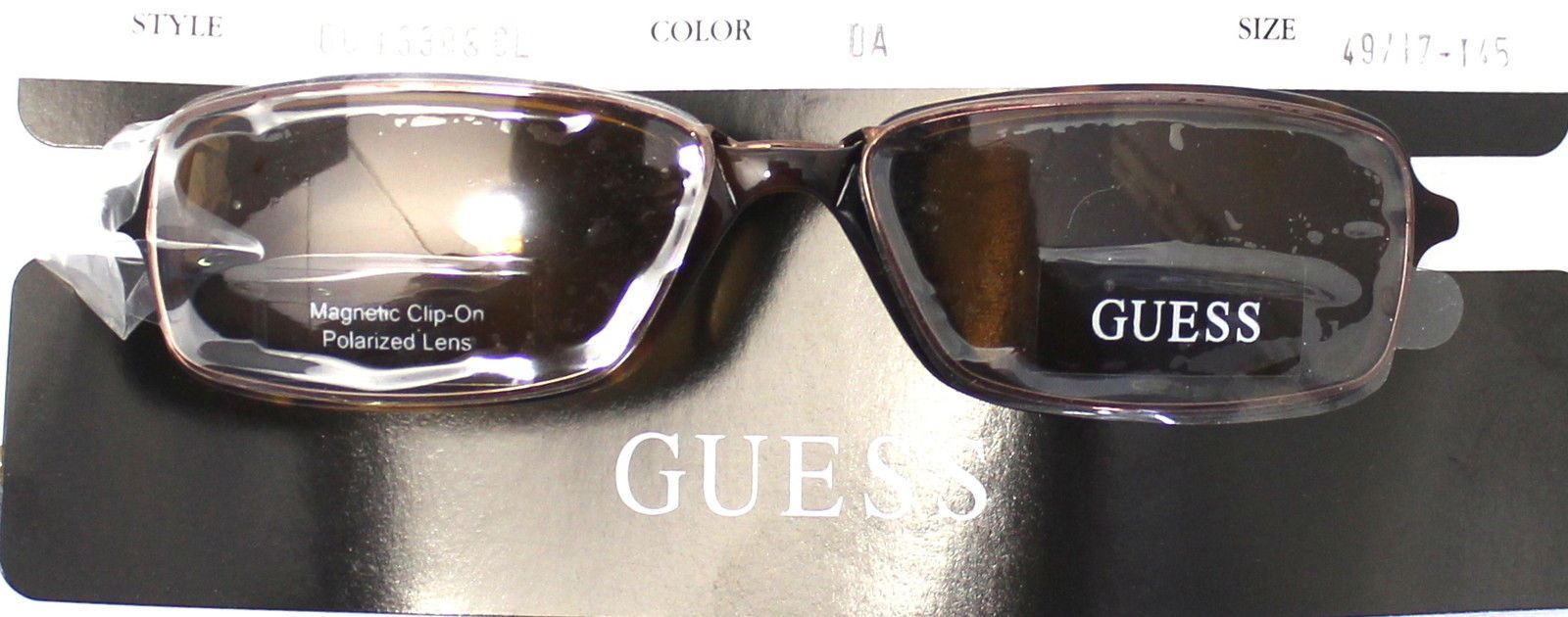 Guess Ophthalmic Mens Eyeglass Plastic Rectangle 1331 Demi Amber image 7