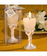 Double heart design champagne flute candle holders, 20 - $51.57