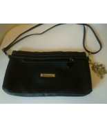 Genna de Rossi Black Large Clutch Purse Handbag adjustable Strap and Key... - $22.51