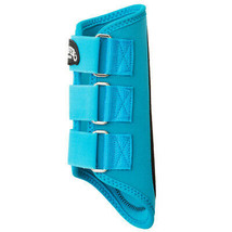 Weaver Horse Splint Boots Pair Neoprene Suede Padding Turquoise U-0-31 - $26.99
