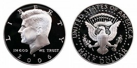 2006 S Proof Kennedy Half Dollar CP2045 - $4.75