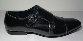WALK London Size 10 LUCA Black Smooth Leather New Men's Cap Toe Monk Dre... - $117.81