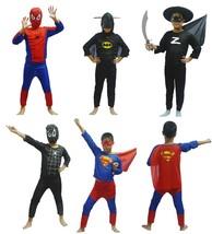 Red spiderman black spiderman batman superman  superhero capes anime co... - $7.99