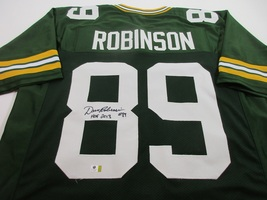 DAVE ROBINSON / NFL HALL OF FAME / AUTOGRAPHED GREEN BAY PACKERS CUSTOM JERSEY image 1