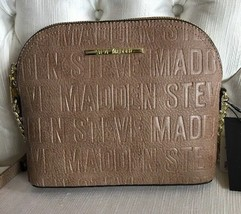 Steve Madden handbag BMarilyn Color Mushroom Stamped Logo Gold Hardware ... - $47.99