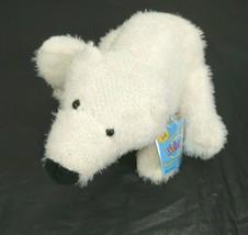 """Ganz Webkinz Fuzzy Polar Bear Plush Stuffed White HM116 WITH CODE 9"""" Age... - $14.84"""